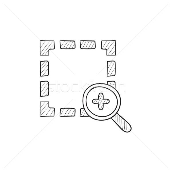 Zoom croquis icône vecteur isolé dessinés à la main Photo stock © RAStudio