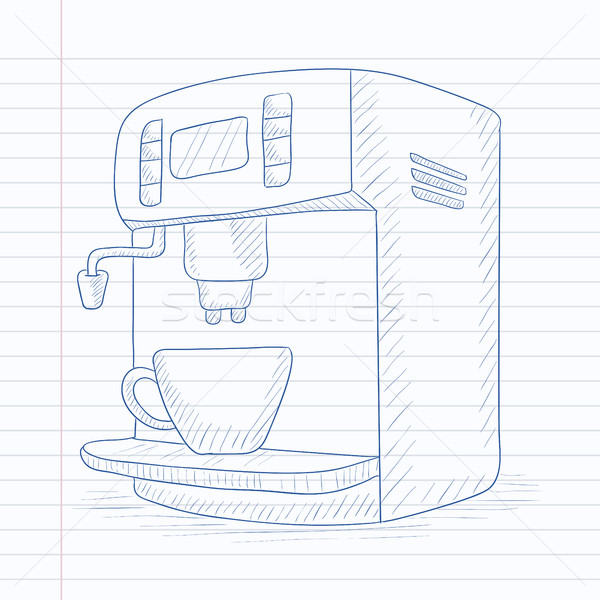 Coffee maker with cup. Stock photo © RAStudio
