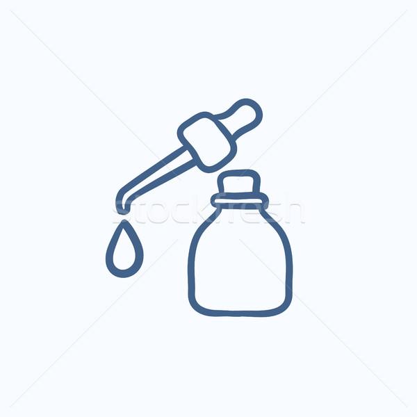 бутылку эскиз икона падение вектора Сток-фото © RAStudio