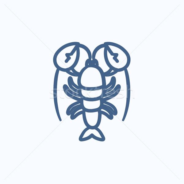 омаров эскиз икона вектора изолированный рисованной Сток-фото © RAStudio