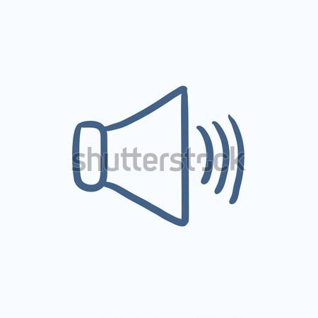 Speaker volume sketch icon. Stock photo © RAStudio