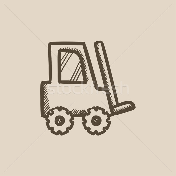 Forklift sketch icon. Stock photo © RAStudio