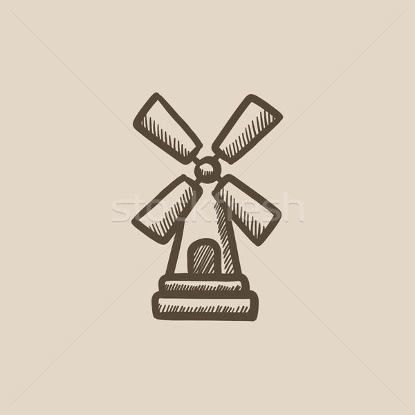 Windmill sketch icon. Stock photo © RAStudio