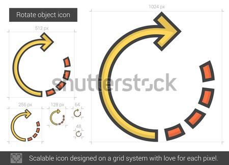 Döndürmek nesne hat ikon vektör yalıtılmış Stok fotoğraf © RAStudio