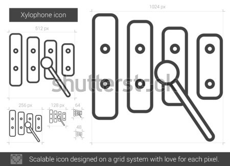 Xylophone line icon. Stock photo © RAStudio