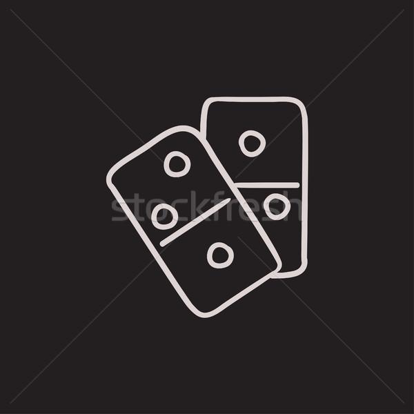 Domino sketch icon. Stock photo © RAStudio