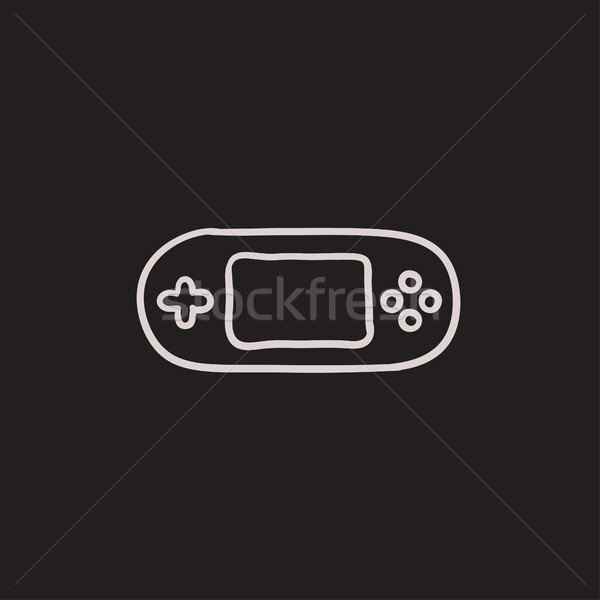 Game console gadget sketch icon. Stock photo © RAStudio