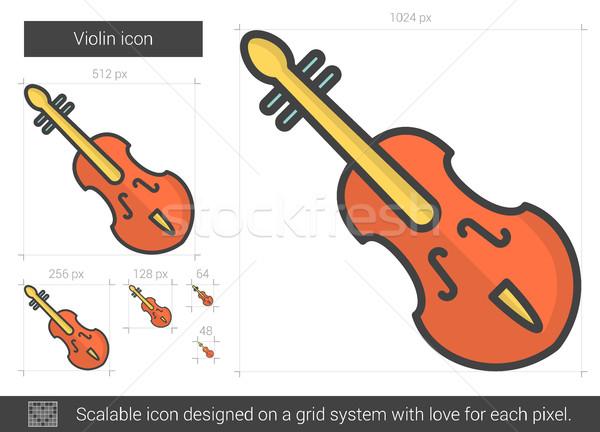 Violino line icona vettore isolato bianco Foto d'archivio © RAStudio