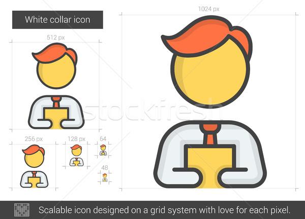 White collar line icon. Stock photo © RAStudio