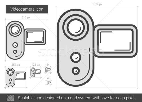 Videocamera line icon. Stock photo © RAStudio