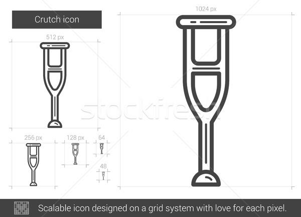 Crutch line icon. Stock photo © RAStudio