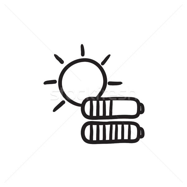 Energía solar boceto icono vector aislado dibujado a mano Foto stock © RAStudio