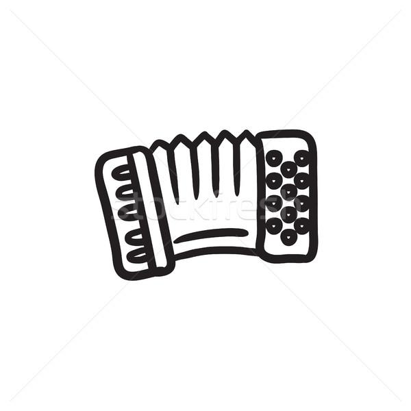 аккордеон эскиз икона вектора изолированный рисованной Сток-фото © RAStudio