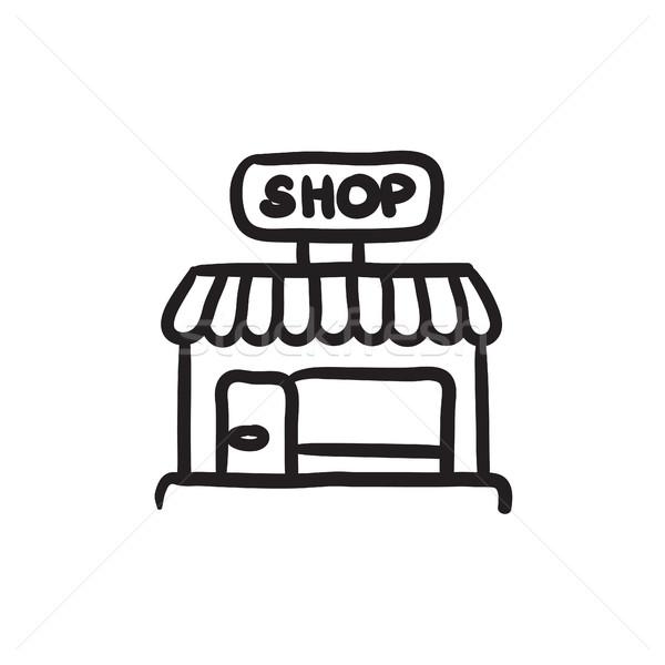 магазин эскиз икона вектора изолированный рисованной Сток-фото © RAStudio