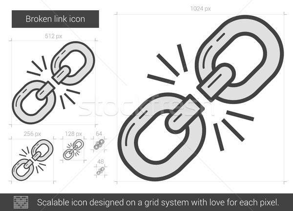 Broken link line icon. Stock photo © RAStudio