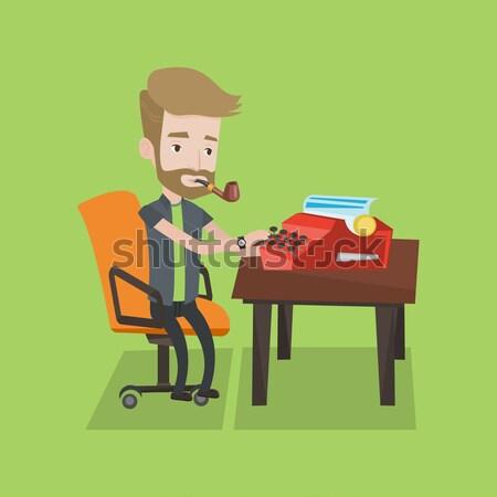 Journalist working on retro typewriter. Stock photo © RAStudio
