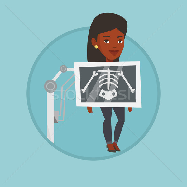 Patient during x ray procedure vector illustration Stock photo © RAStudio
