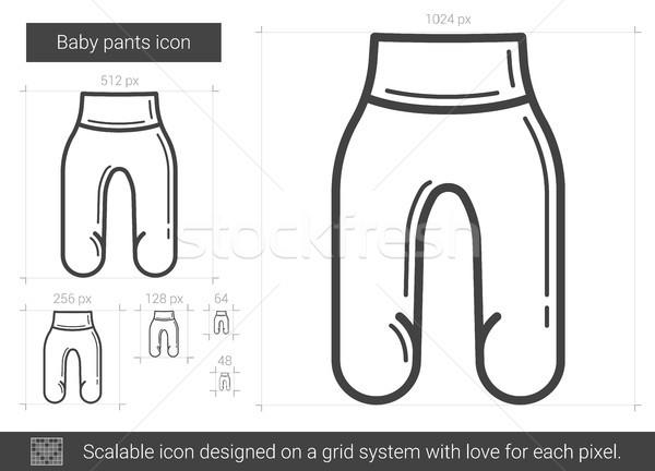 Bébé pants ligne icône vecteur isolé Photo stock © RAStudio