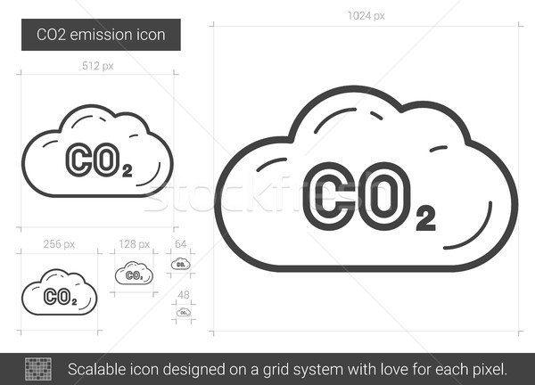 CO2 emission line icon. Stock photo © RAStudio