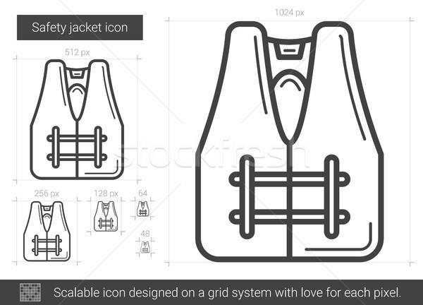 Safety jacket line icon. Stock photo © RAStudio