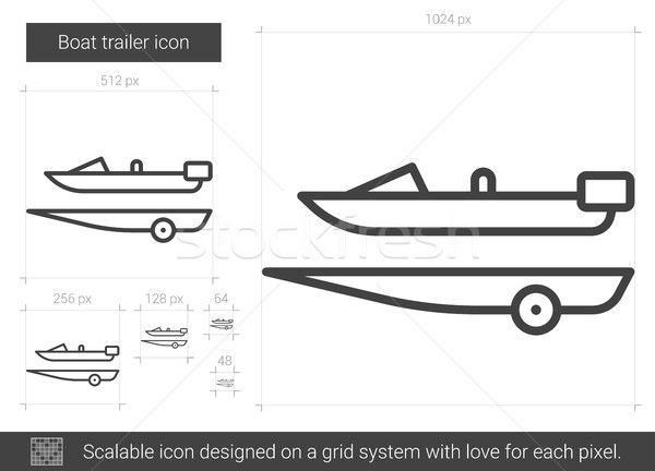Boat trailer line icon. Stock photo © RAStudio