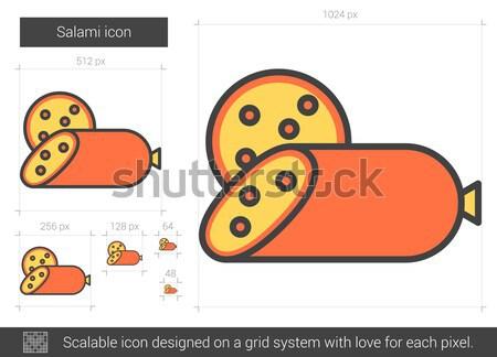 Salami line icon. Stock photo © RAStudio