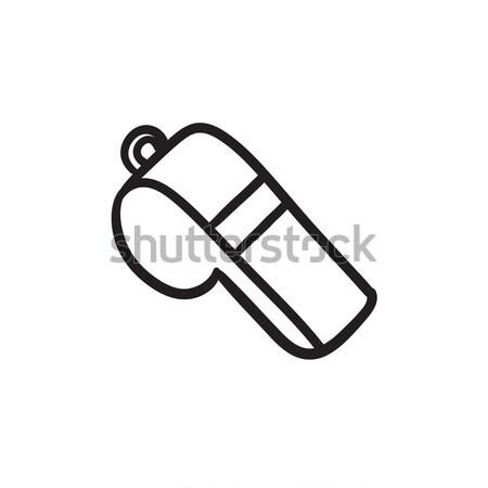 Whistle sketch icon. Stock photo © RAStudio