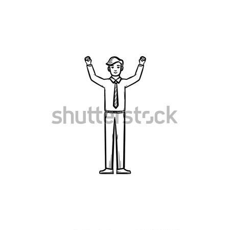 Entrepreneur figure hand drawn sketch icon. Stock photo © RAStudio