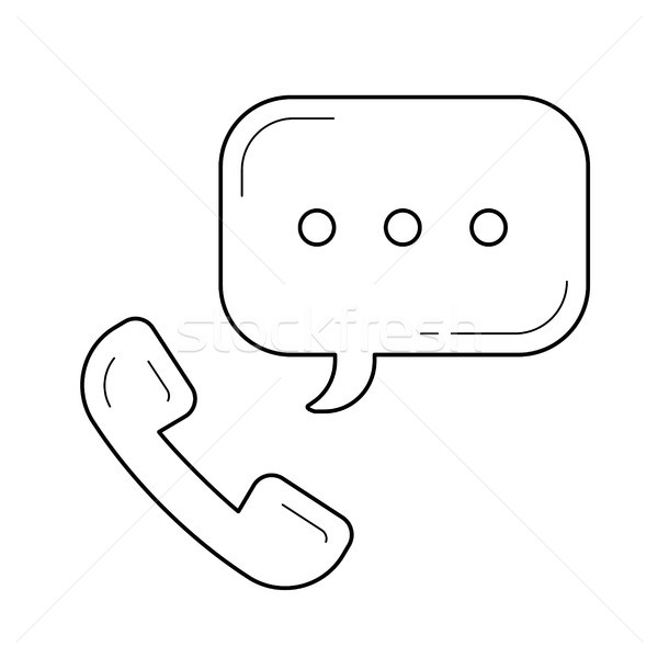 Telephone receiver line icon. Stock photo © RAStudio