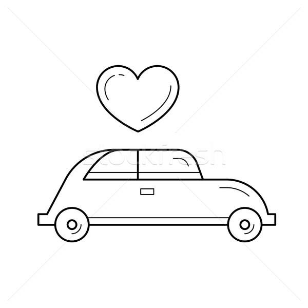 Just married vector line icon. Stock photo © RAStudio