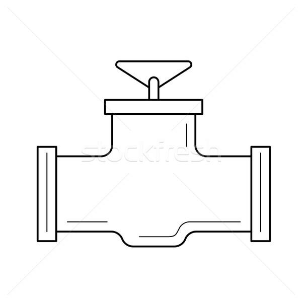 Industrial válvula vector línea icono aislado Foto stock © RAStudio