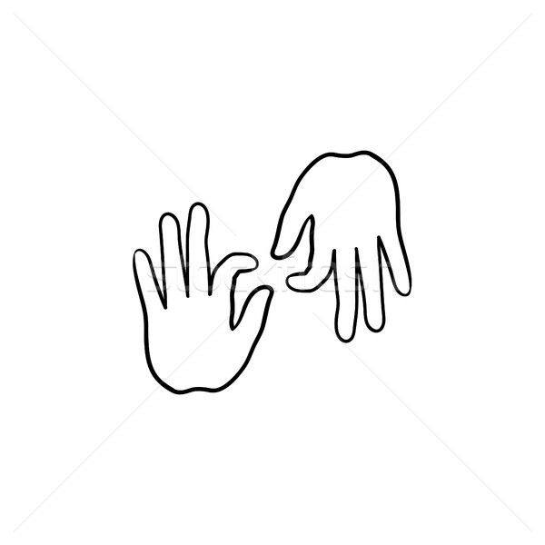 Deaf language hand drawn outline doodle icon. Stock photo © RAStudio