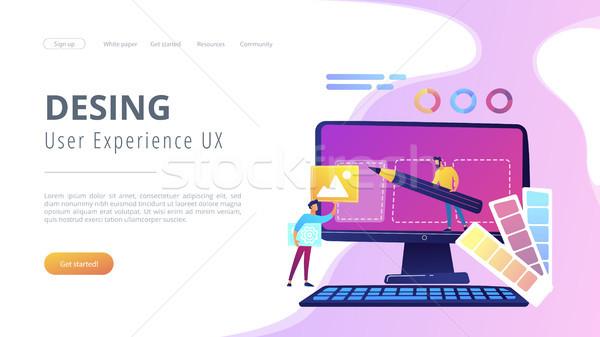 Web design development concept vector illustration Stock photo © RAStudio