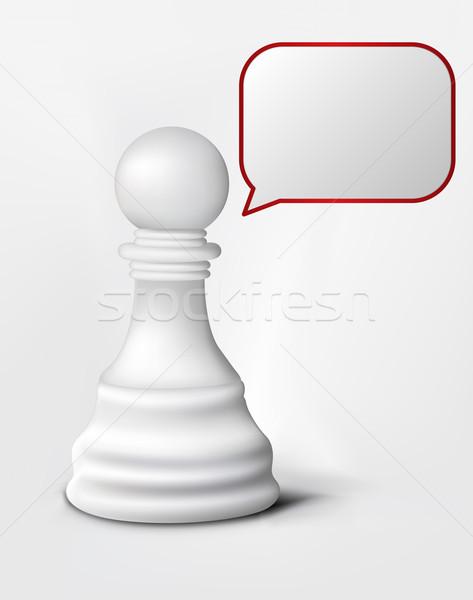 Speach of Chess Pawn Stock photo © RAStudio