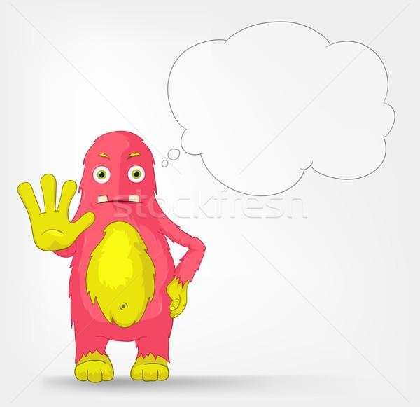 Funny Monster. Stop. Stock photo © RAStudio