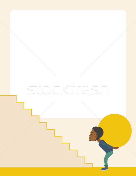 African Businessman needs sacrifices Stock photo © RAStudio