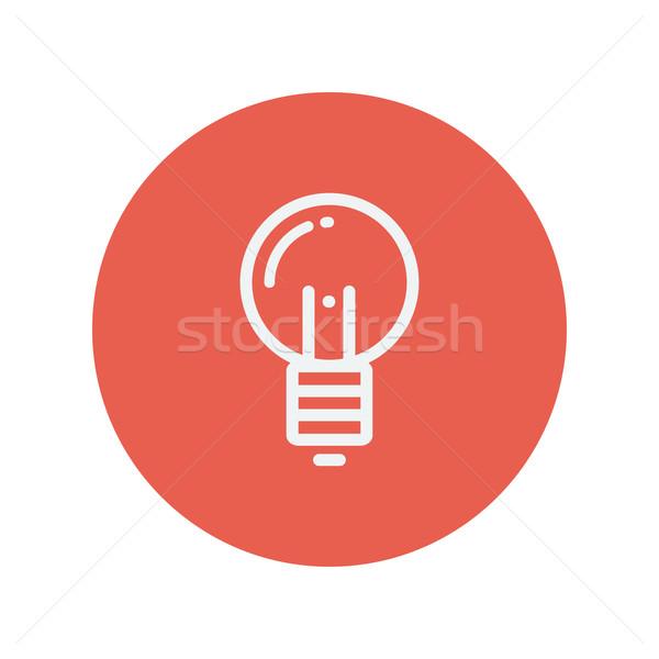 Stock photo: Light bulb thin line icon