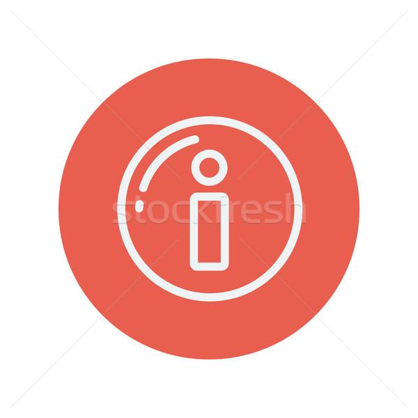 Információ jel vékony vonal ikon háló mobil Stock fotó © RAStudio
