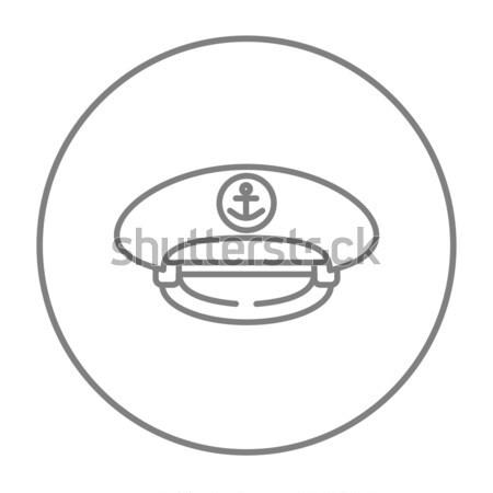 CAP línea icono web móviles infografía Foto stock © RAStudio