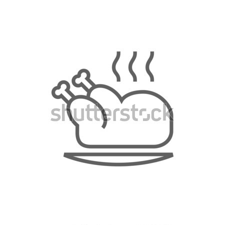 ストックフォト: 全体 · 鶏 · 行 · アイコン · ウェブ