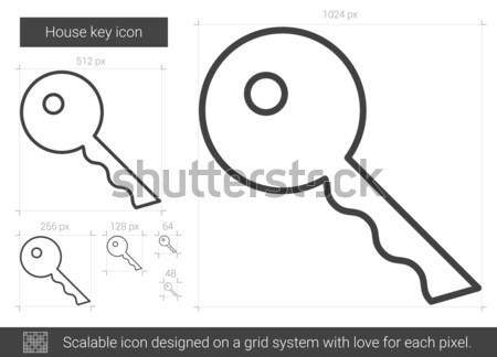 Key for house line icon. Stock photo © RAStudio