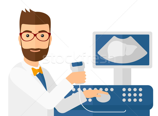 Male ultrasound specialist. Stock photo © RAStudio
