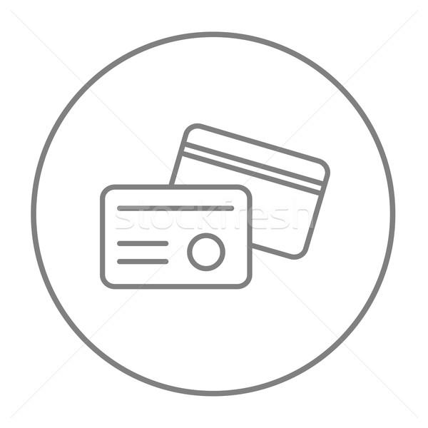 識別 カード 行 アイコン ウェブ 携帯 ストックフォト © RAStudio