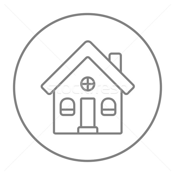 Stock photo: Detached house line icon.