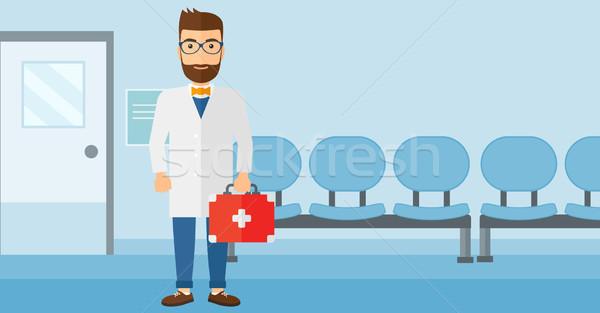 Lekarza pierwsza pomoc polu stałego szpitala wektora Zdjęcia stock © RAStudio