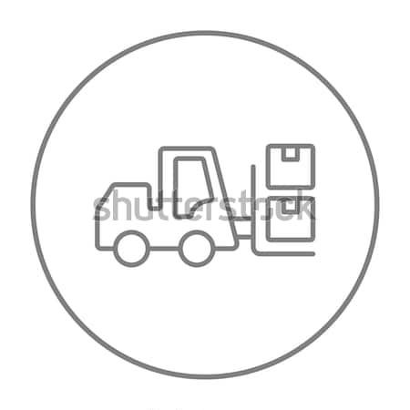 Targonca vonal ikon szállítás dobozok sarkok Stock fotó © RAStudio