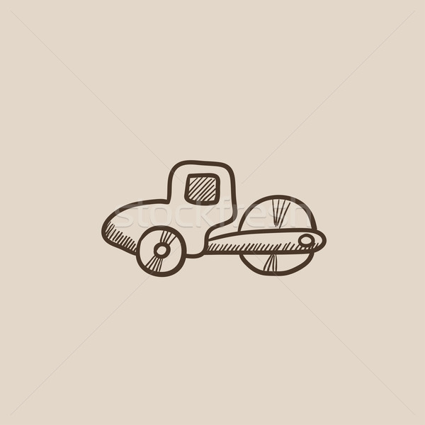 Road roller sketch icon. Stock photo © RAStudio