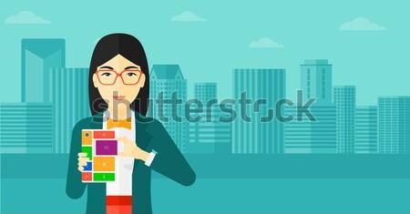 Woman with modular phone. Stock photo © RAStudio