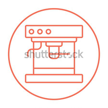 Koffiezetapparaat lijn icon hoeken web mobiele Stockfoto © RAStudio
