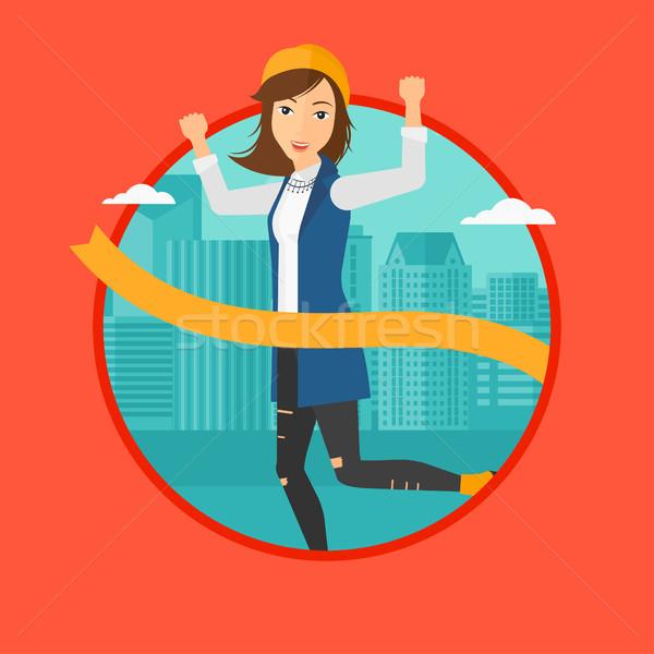 Mulher de negócios bem sucedido corrida negócio sucesso Foto stock © RAStudio